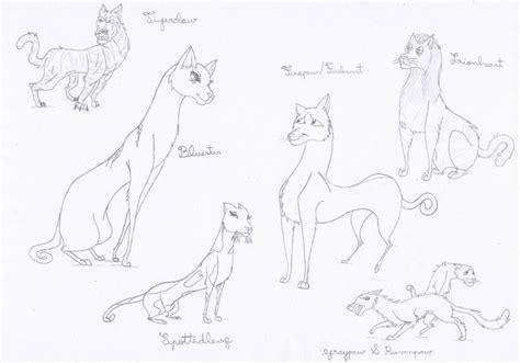 warrior cats sketches by loveanimals8 on deviantart