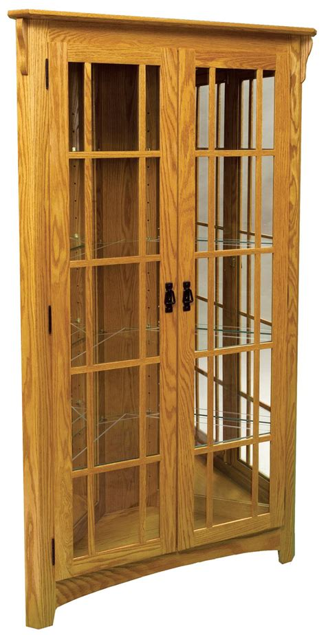 Mission Cabinets by Mission Corner Curio Cabinet From Dutchcrafters Amish