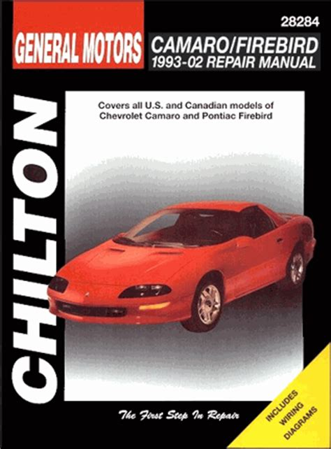 chevrolet camaro and pontiac firebird repair manual for autos post