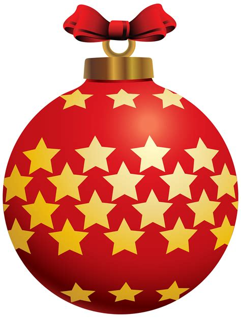 Best Ornaments For Christmas Tree by Red Christmas Ball With Stars Png Clipart Best Web Clipart