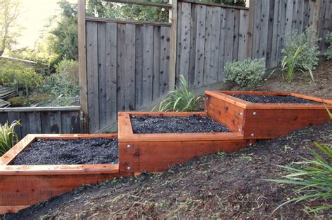 Terrace Vegetable Garden Terraced Raised Garden Beds Search Backyard