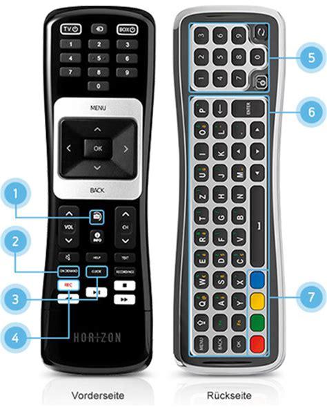 hd recorder fernbedienung des kabel bw unitymedia horizon hd recorders