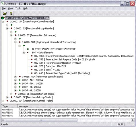 convert an edi document form 270 to a csv file efilemanager an edi editor and viewer utility
