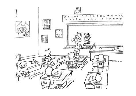 dibujos para colorear de clase dominical dibujos escuela para colorear del sal 243 n de clases