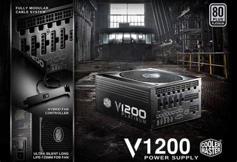 Psu Cooler Master V1200 Platinum Vanguard 1200w cooler master vanguard 1200 watt 80 platinum modular