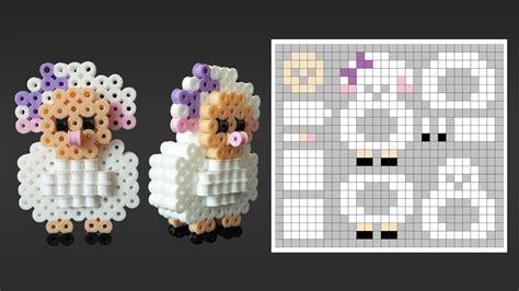 how to make 3d perler how to make a perler bead 3d sheep