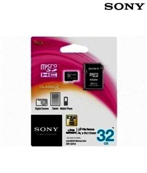 Memory Card Hp Micro Sd sony micro sd 32 gb memory card with adapter memory cards at low prices snapdeal india