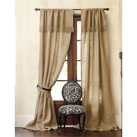 how to make fringe curtains burlap panels with fringe valance burlap pinterest