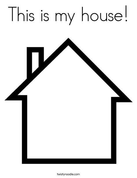 create my house this is my house coloring page twisty noodle