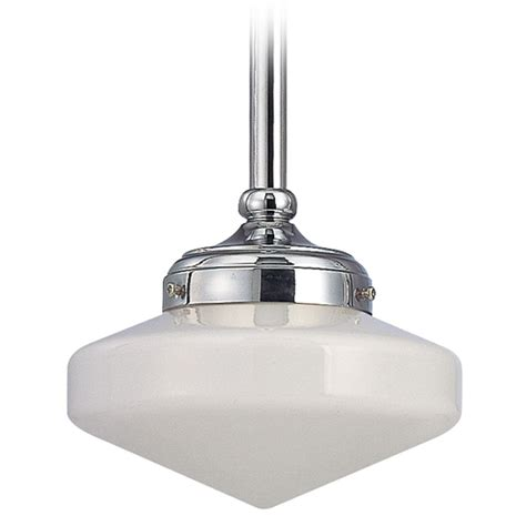 schoolhouse mini pendant light polished chrome 8 inch schoolhouse mini pendant light ebay