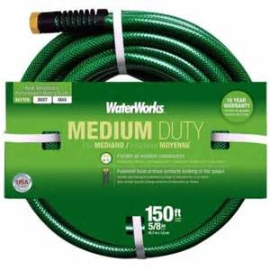 water hose at home depot waterworks 5 8 in x 150 ft water hose wwt3158150 the