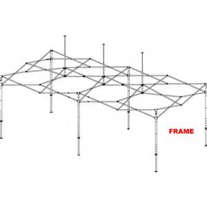 Easy Up Canopy Replacement Parts by E Z Up Frame Eclipse Steel 10 X20 Tent Frame Buy Shade