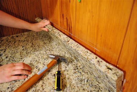 How To Remove Granite Countertop by Removing Cabinets Patching A Vinyl Floor Tile