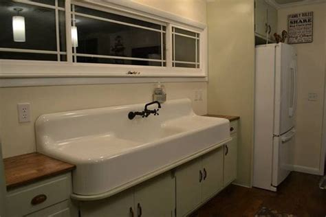vintage kitchen with drainboard my vintage 1929 cast iron double drainboard