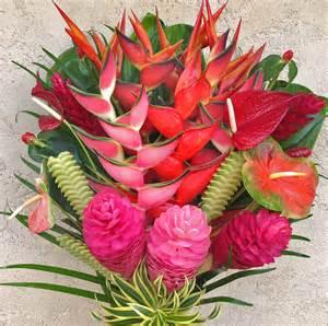 quot best of kauai quot tropical flower arrangement features lots