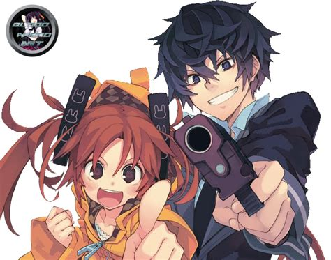 Black Bullet 4 black bullet enju rentaro render by bloodakenoart on deviantart