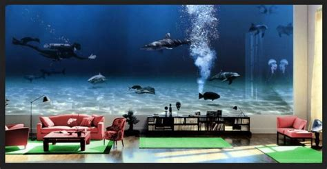 Bill Gates Living Room Whale by Fantastis Penakan Akuarium Rumah Termewah Milik Bill