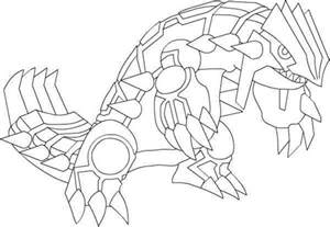 free coloring pages of es groudon