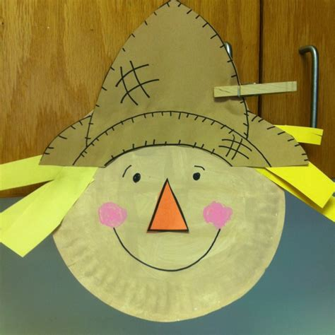 Scarecrow Paper Plate Craft - paper plate scarecrow paper plate crafts