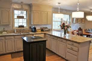 Linen White Kitchen Cabinets by Wood Kitchen Cabinets Updated With Ascp Chalk Paint