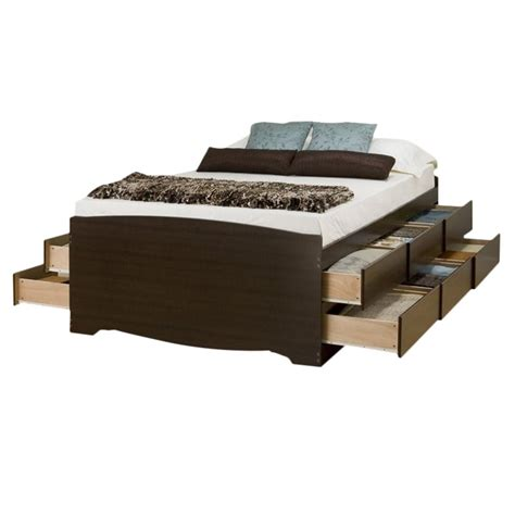 Platform Storage Bed With 12 Drawers by Bowery Hill Platform Storage Bed With Drawer In