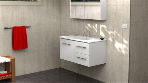 Harvey Norman Bathroom Vanities Timberline 900mm Wall Hung Vanity Bathroom