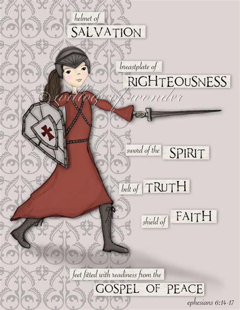 warrior full armor of god scripture print