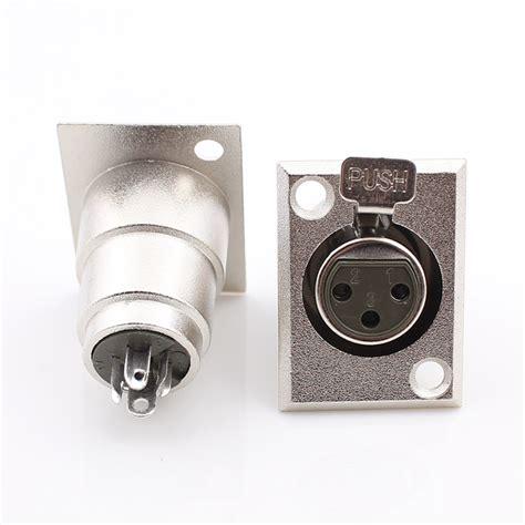 xlr format converter free shipping metal 3 pin xlr female jack socket panel