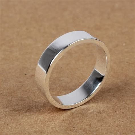 S925 Silver Ring handmade s925 sterling silver simple ring wishbop
