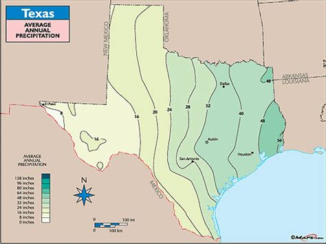 texas precipitation map texas average annual precipitation map by maps from maps world s largest map store
