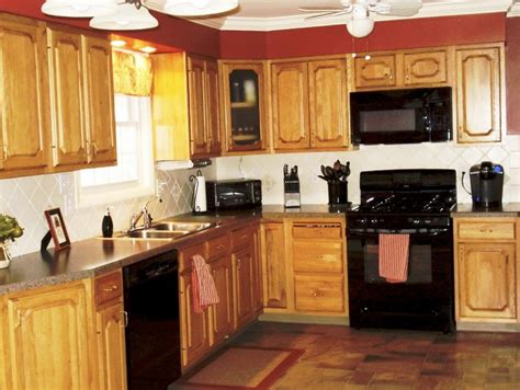 Kitchen Cabinets With Black Appliances What Color To Paint Kitchen Cabinets With Black Appliances Home Design Ideas