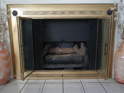 1000 ideas about fireplace glass doors on