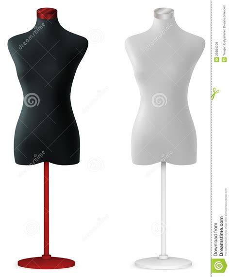 mannequin design template empty mannequin torso template royalty free stock