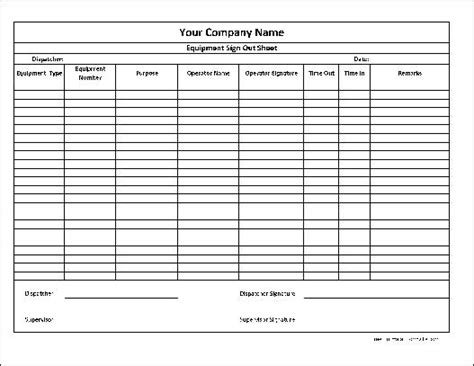 Sign In Sign Out Sheet School Age Sign In Out Sheet Inventory Sign Out Sheet Template Excel Inventory Sign Out Sheet Template Excel