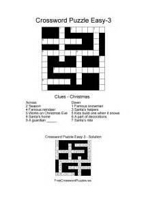 easy crossword puzzle christmas