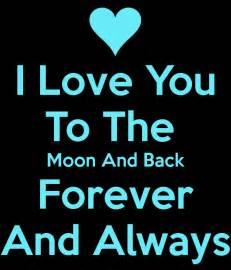 i love you to the moon and back forever and always poster
