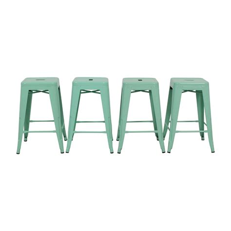 Green Metal Counter Stools by Used Stools On Sale