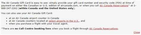 Air Canada Gift Card Canada Post - flyertalk forums view single post question help using air canada e gift card on