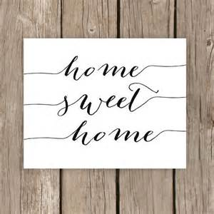 home sweet home printable typography sign home decor