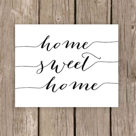 Printable Home Decor | home sweet home printable typography sign home decor