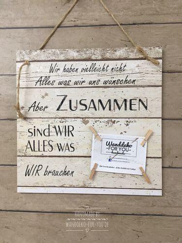 Wanddeko For You by Zusammen Sind Wir Alles Vintage Spruchtextschild Spr 252 Che