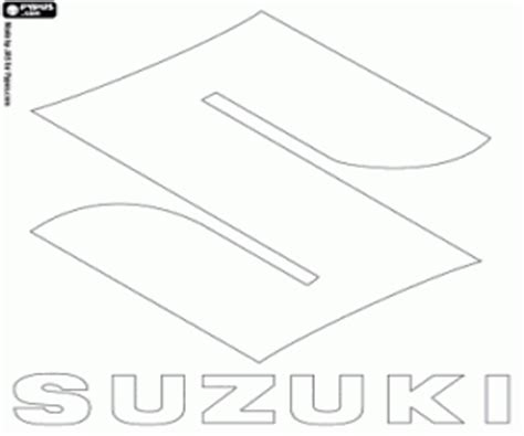 coloring pages car logos suzuki logo car brand from japan coloring page