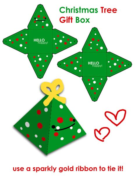 christmas tree gift box template search results