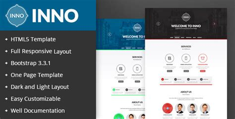 site templates inno responsive one page html5 template