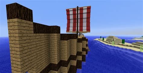 boat with oars minecraft viking longboat minecraft project