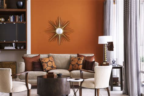 home interior color design decorating with a warm color scheme