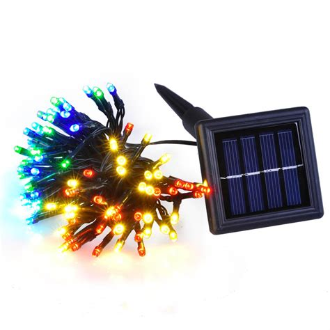 Led Solar Outdoor Tree Lights 60 Led String Solar Light Outdoor Garden Wedding