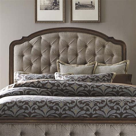 Antique Headboards King Liberty Furniture Amelia Upholstered King Headboard In Antique Toffee 487 Br15hu