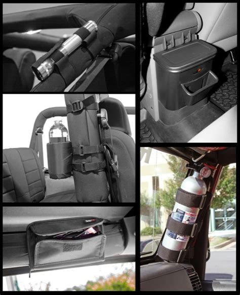 Jeep Wrangler Interior Storage by All Things Jeep Interior Storage Kit 6 Pieces Jeep