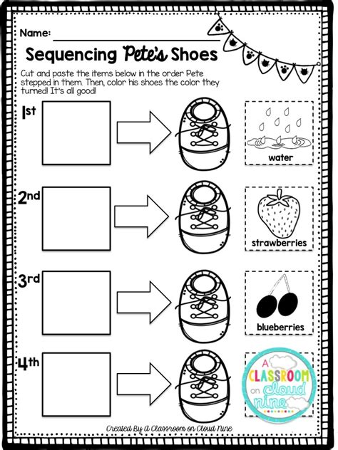 Pete The Cat Worksheets by A Classroom On Cloud Nine Pete The Cat I My White
